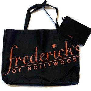 Frederick's of Hollywood l Large black tote